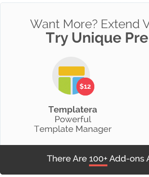 Want Extend Try Unique Pre Templatera Powerful Template Manager There Are 100k