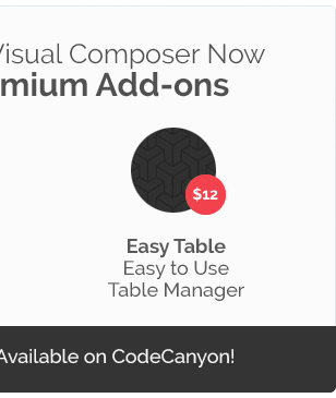 Composer Now mium Easy TabLe Easy Use Table Manager vailable CodeCanyon!