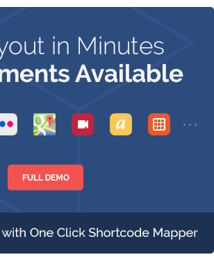 tout Minutes rnents AvaiLabLe FULL DEMO with One Click Shortcode Mapper