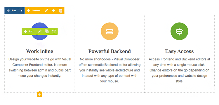 WordPress Frontend Editor - WPBakery Page Builder