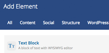 Text Block editor - WYSIWYG