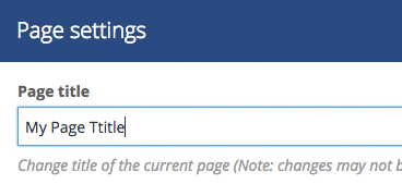 WordPress Page and Post Settings