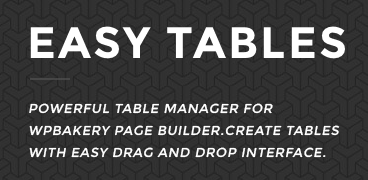 Easy Tables addon for the WPBakery Page Builder